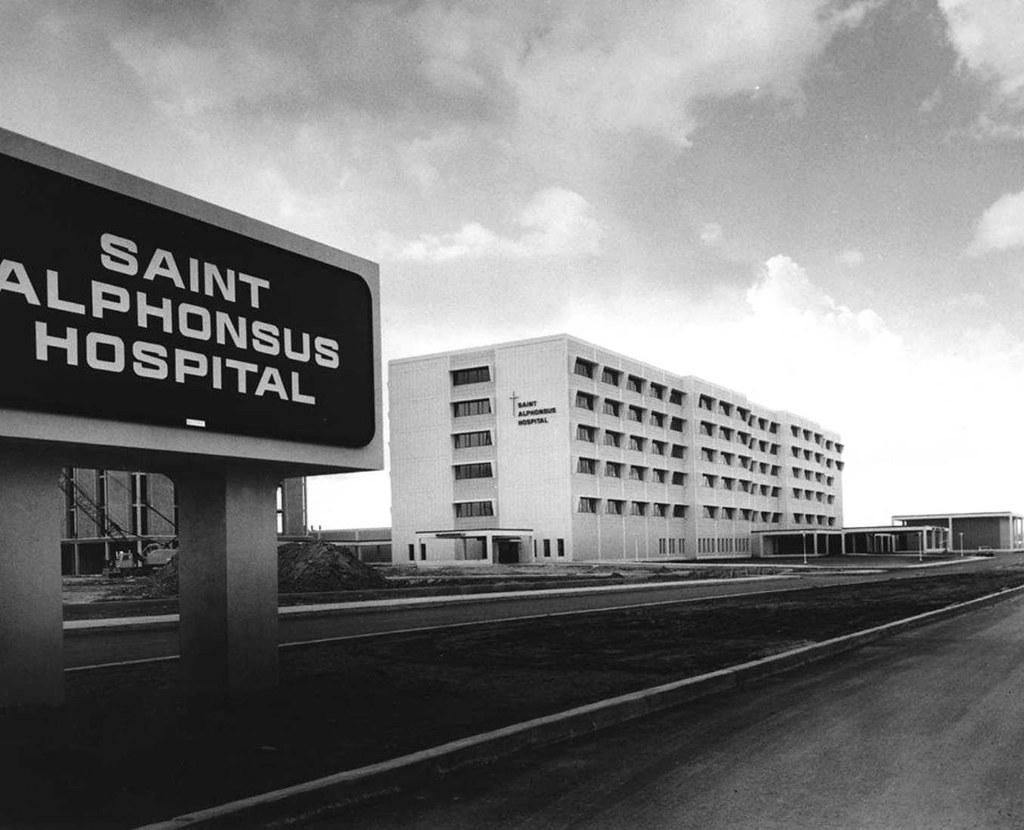 Saint Alphonsus Hospital Boise Idaho 1972 new location on