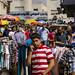 People in market near Ramallah's main mosque.