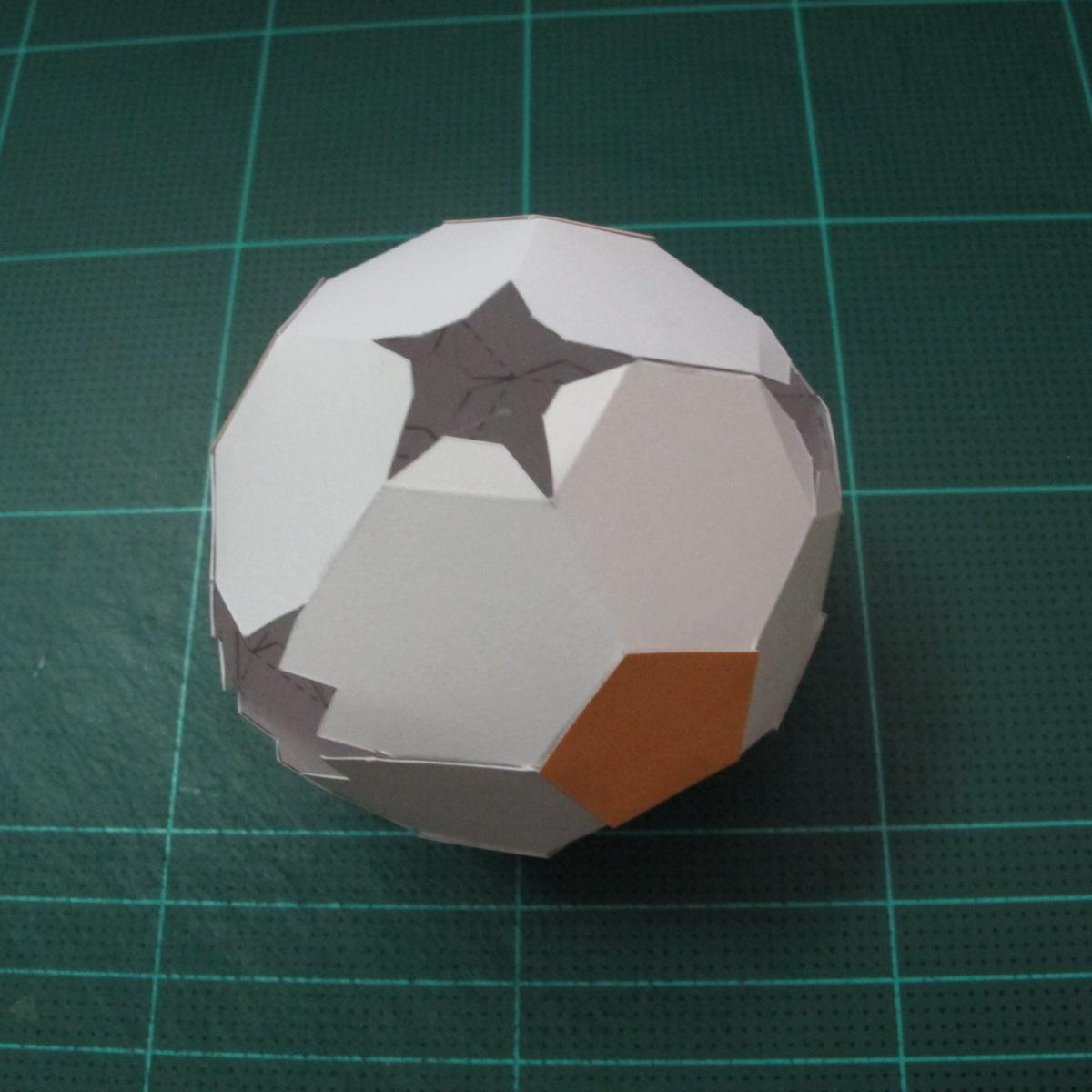 วิธีทำโมเดลกระดาษหมีบราวน์ชุดบอลโลก 2014 ทีมบราซิล (LINE Brown Bear in FIFA World Cup 2014 Brazil Jerseys Papercraft Model) 007