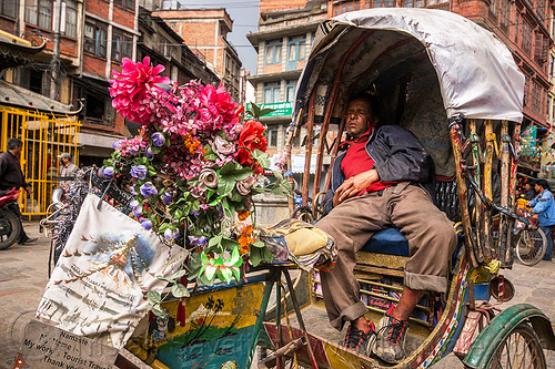 DSC05090 - Cycle Rickshaw Driver Napping - Kathmandu (Nepal) | by loupiote (Old Skool) pro