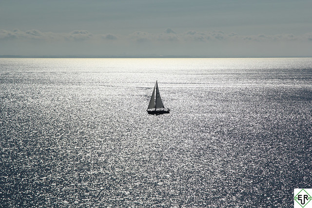 Sailing in the blue
