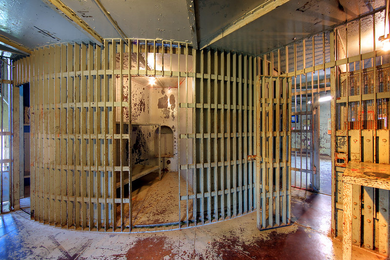 Squirrel Cage Jail in Council Bluffs, Iowa