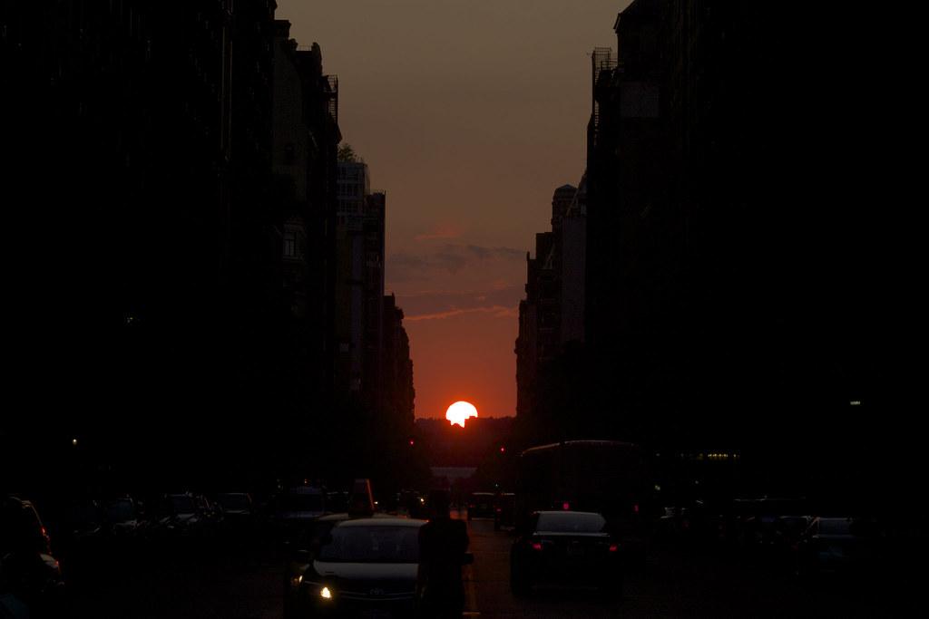 Manhattanhenge Sunset 2014