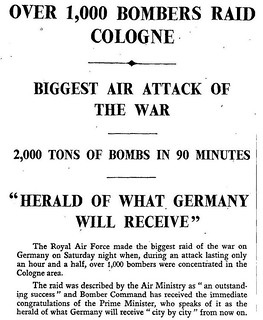 30th May 1942 - 1000 bomber raid on Cologne | by Bradford Timeline