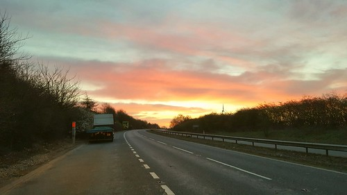 openroad sunrise eastanglia uk england greatbritain mobilephone cellphone smartphone earlymorning