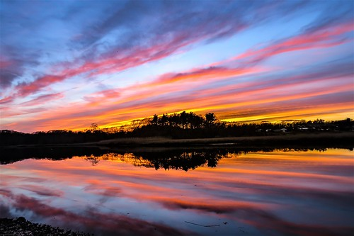 sunset sky clouds water reflection river andrewlincolnphotographer
