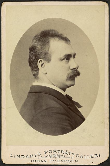 Portrett av komponist og dirigent Johan Svendsen (1840-1911)