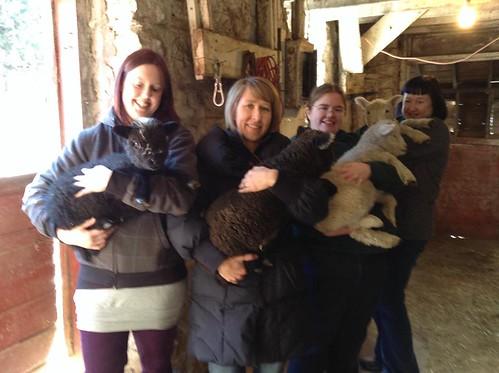 Holding Lambs (Me, Mary, Anna, Melanie)   by Virtualdistortion