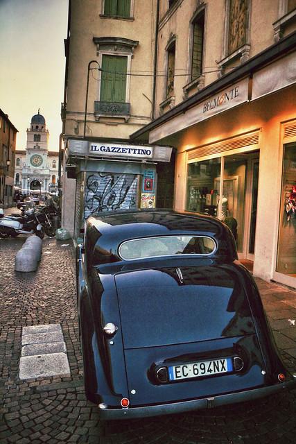 Classic Jaguar in Padua, Italy