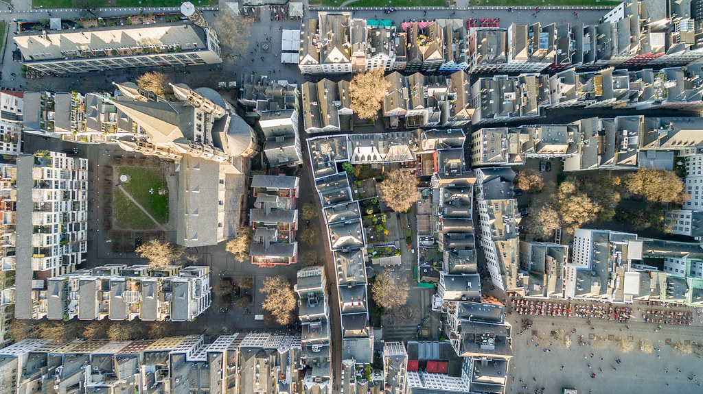 Cologne Old Town aerial