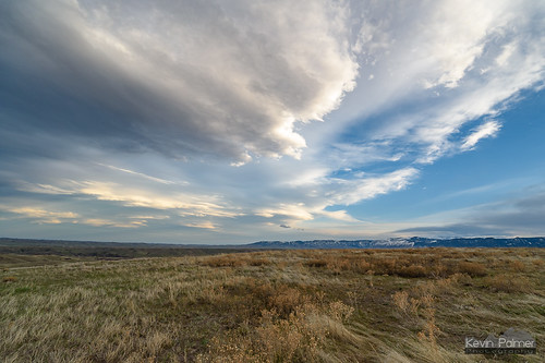 soldierridge sheridan wyoming april spring evening sunset color colorful clouds nikond750 irix15mmf24 lenticular sagebrush bighornmountains foothills hills