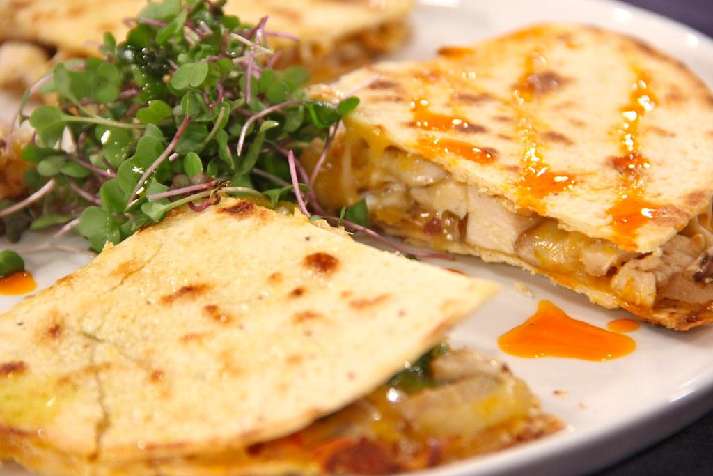 quesadilla de pollo receta vegana
