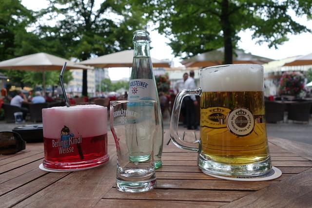 Couple of beverages infront of Le Buffett Kaufhaus des Westens (KaDeWe)
