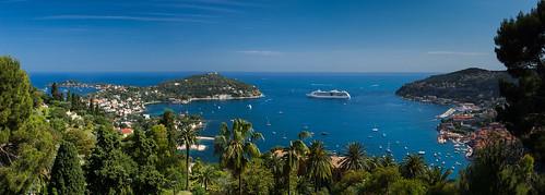 blue panorama france bluesky cruiseship villefranche bluesea capferrat moyencorniche rade alpesmaritime villefranchsurmer
