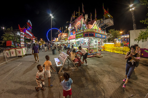 carnival blue atlanta red summer usa playing colors yellow kids night contrast dark georgia children lights evening lowlight nikon parkinglot play ride candy nightshot unitedstates south roswell wideangle sugar fisheye southern adobe junkfood cottoncandy rides snacks midway 8mm amusements orientexpress lightroom ringoffire candyfactory ultrawideangle rokinon peachtreerides d7000 stgrundy