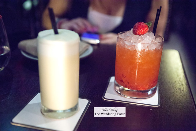 Our drinks - Cease and Desist (left) and Berry 'Dangerous' Fix