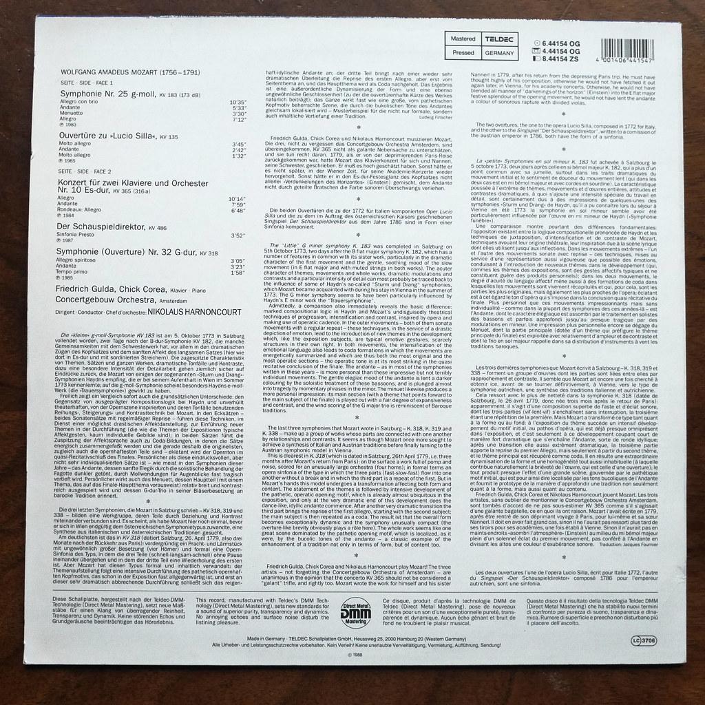 Backside Mozart - Symphony No 25 KV183 & No 32 KV318 - Ouv