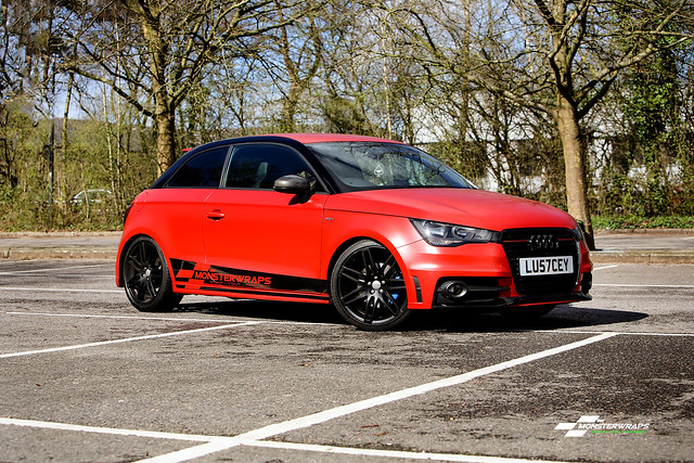 Audi A1 Satin Smouldering Red wrap