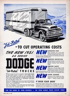 1951 Dodge Tractor-Trailer Truck (Canada)