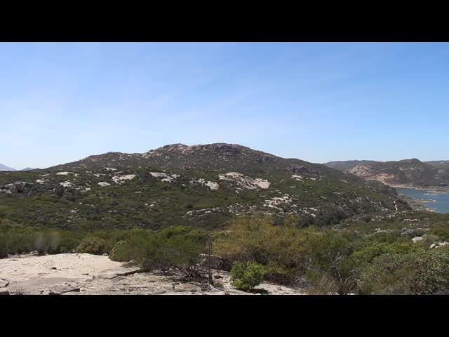 270 Panorama video of Lake Morena from high on the PCT