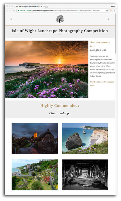 Best of England - Isle of Wight Landscape photo competition