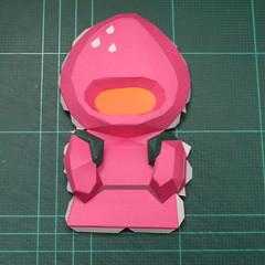 วิธีทำโมเดลกระดาษตุ้กตาคุกกี้รัน คุกกี้รสสตอเบอรี่ (LINE Cookie Run Strawberry Cookie Papercraft Model) 015