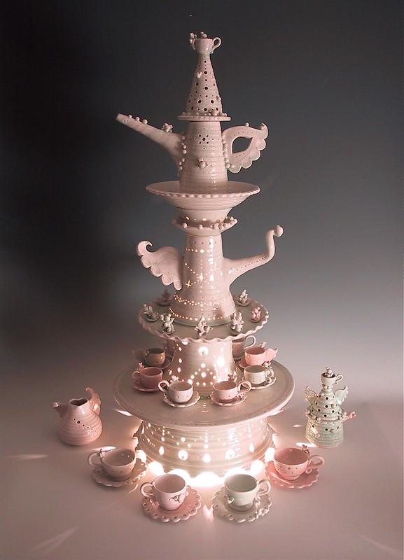 """Hideminy♥︎NY Solo Ceramic Exhibit  """"Wholehearted Tea Party"""""""