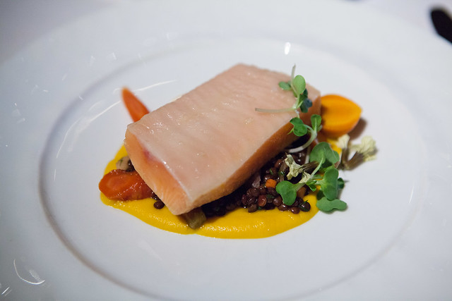 Smoked Arctic Char, Carrots, Lentils and Preserved Citrus