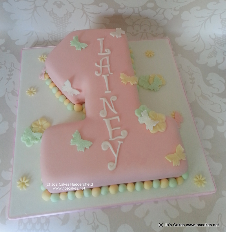 Remarkable Girly Pink Pastels 1St Birthday Cake Pastel Pink Number 1 Flickr Personalised Birthday Cards Paralily Jamesorg