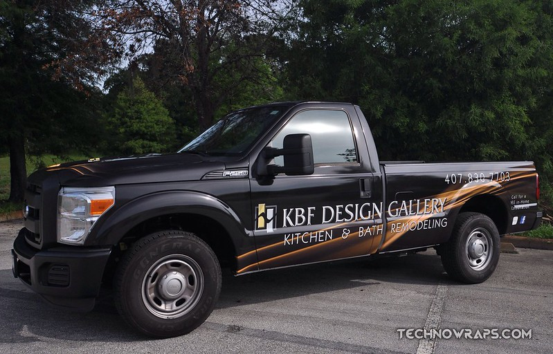 Pickup truck wrap by TechnoSigns in Orlando, Florida