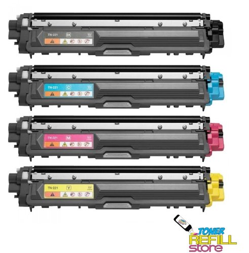 NEW Compatible Brother 4 Pack TN221 Toner cartridge for Brother HL-3140CW HL-3170CDW MFC-9130CW MFC-9330CDW MFC-9340CDW Review