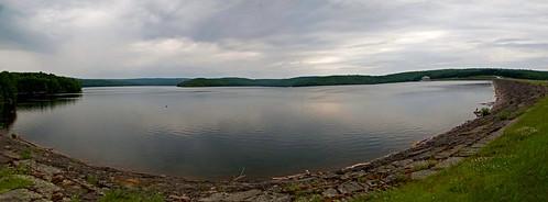 morning summer sky panorama lake newyork water clouds canon stormy powershot reservoir summertime neversink g12 smack53