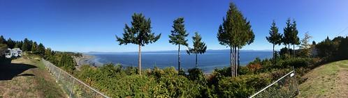 panorama panoramic ocean view qualicum qualicumbeach vancouverisland bc canada