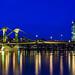 Frankfurt Flößerbrücke und EZB Gebäude