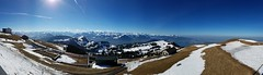 Panoramic view of the Swiss Alps