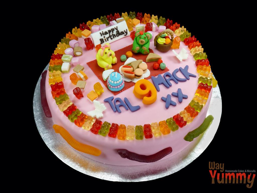 Wondrous Gummy Bear Cake Jay Flickr Funny Birthday Cards Online Benoljebrpdamsfinfo