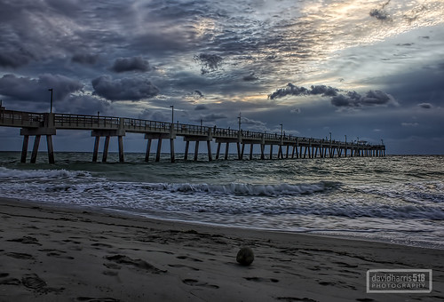 travel nature weather clouds sunrise florida piers beaches oceans daybreak coasts daniabeach
