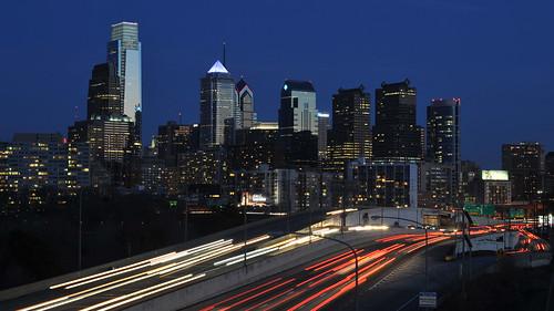 Philadelphia Night Skyline   by Chris Hunkeler