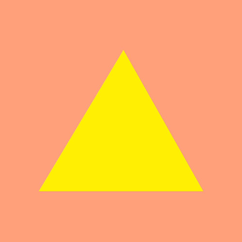 Quot I Feel Like A Canary Yellow Triangle On Light Salmon