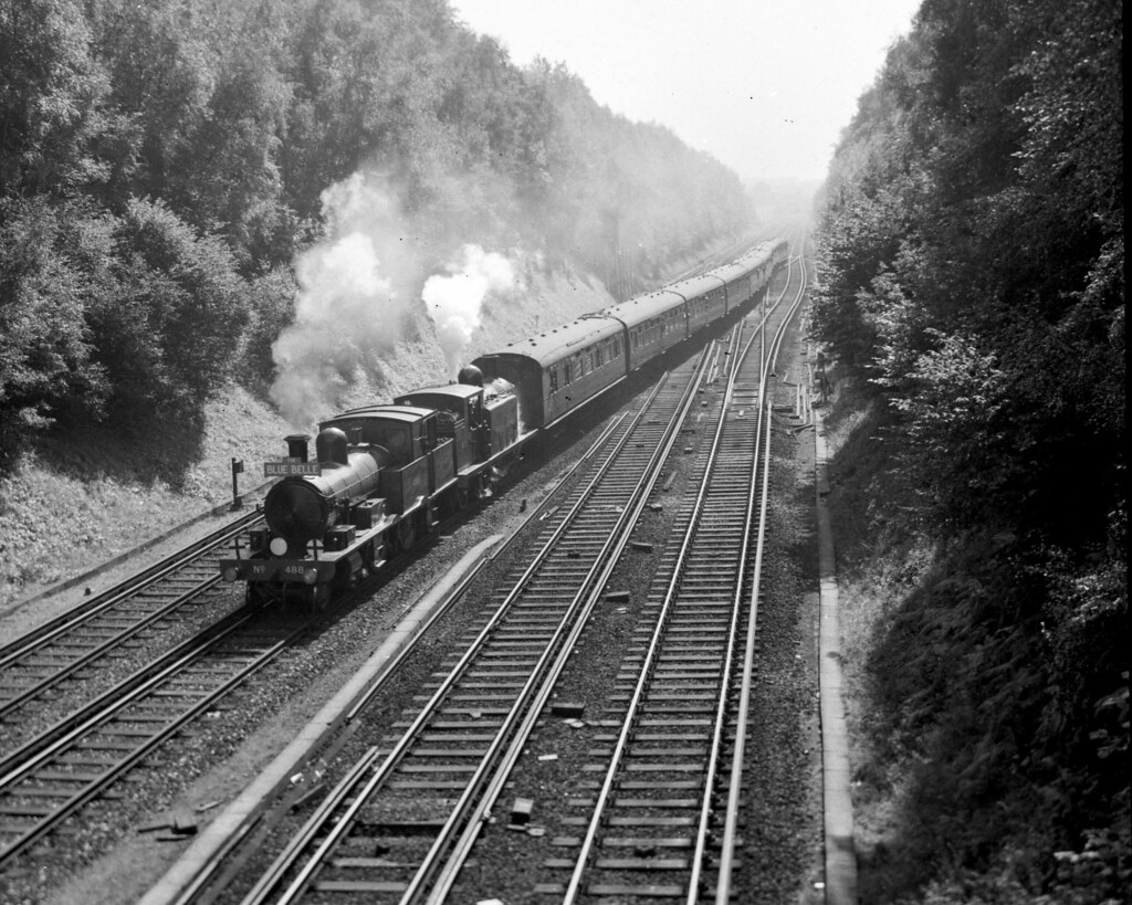 LSWR 4-4-2T 488 & LBSC E4 473 at Copyhold Junction, 15 Sep
