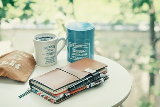 Have a coffee table trip with TRAVELER'S notebook. | by thomas@flickr