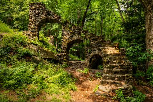 chesterfield newhampshire unitedstates madamesherri trees abandoned ruins stone granite newengland legendtripping castle outside stairs staircase stairstonowhere yextnewhampshire