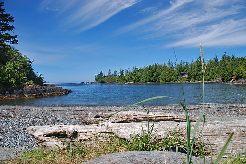 Little Beach in Ucluelet, West Coast Vancouver Island, British Columbia