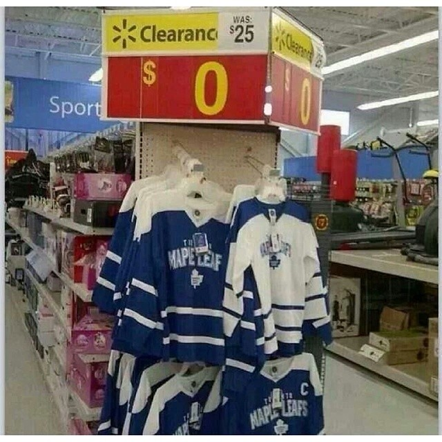 low priced 1183f 555ef Toronto Maple Leafs jerseys on sale at Walmart, don't worr ...