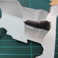 วิธีทำโมเดลกระดาษ ตุ้กตาไลน์ หมีบราวน์ ถือพลั่ว (Line Brown Bear With Shovel Papercraft Model -「シャベル」と「ブラウン」) 009