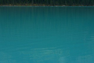 The water in Lake Louise is an incredible shade of blue