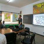 Mon, 06/02/2014 - 8:54am - Andrew gives a presentation on the team's preliminary findings at the environmental ministry in Paramaribo. Photo by Fabian Michelangeli.