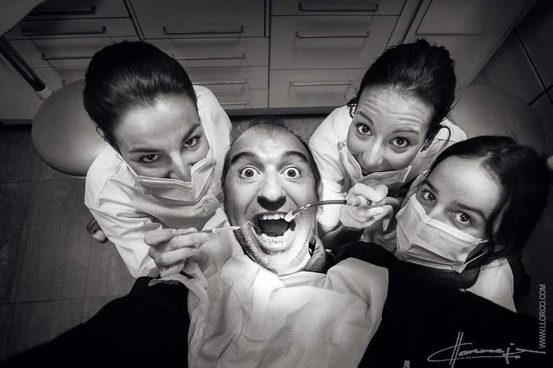 Selfie en el dentista o AUTOFOTO en el dentista