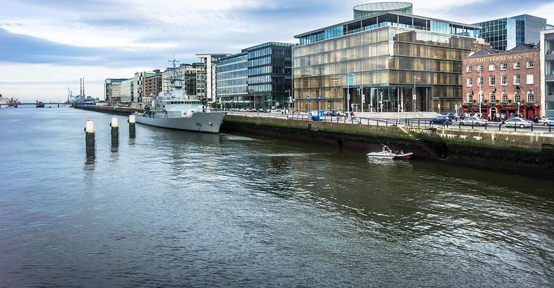 New Irish Navy Ship LÉ Samuel Beckett(P61) Pays Its First Visit To Dublin