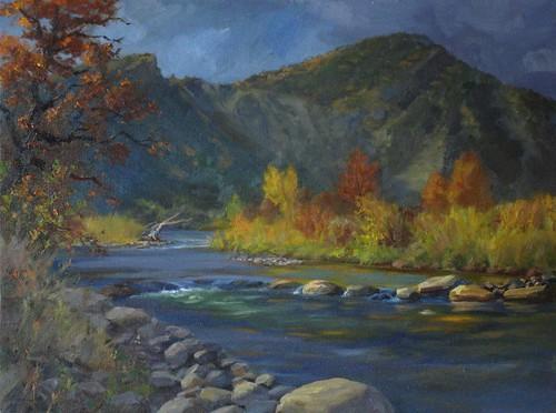 Animas River in Autumn, Durango, Colorado